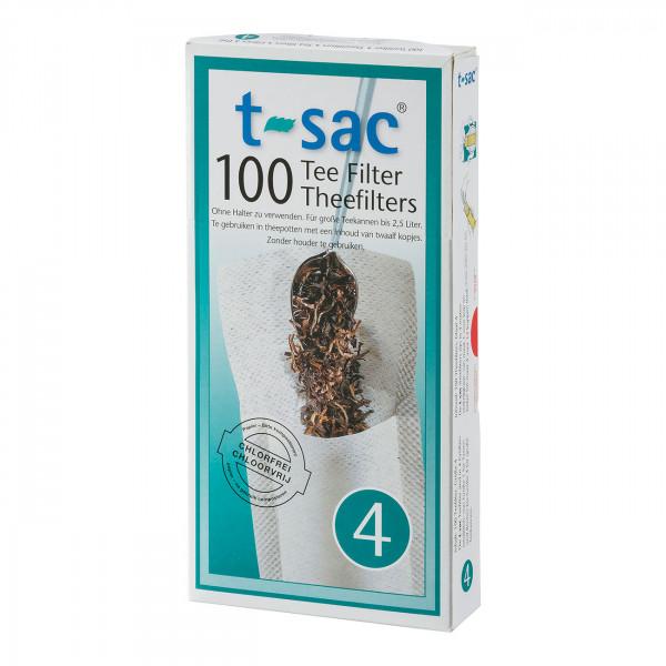 t-sac Papier-Teefilter Größe 4 (für Teekanne 1,7 bis 2,5 l)