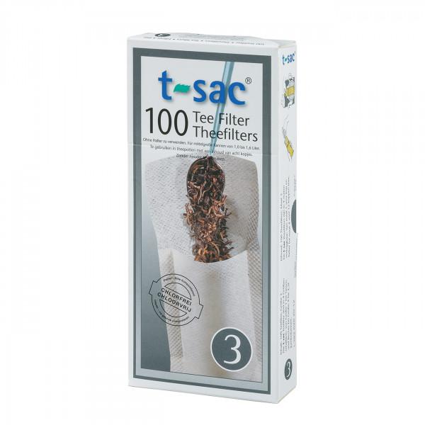 t-sac Papier-Teefilter Größe 3 (für Teekanne 1,0 bis 1,6 l)
