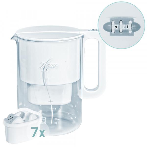 Glas Tischwasserfilter mit Date Indicator + 7 Multimax+ Patronen
